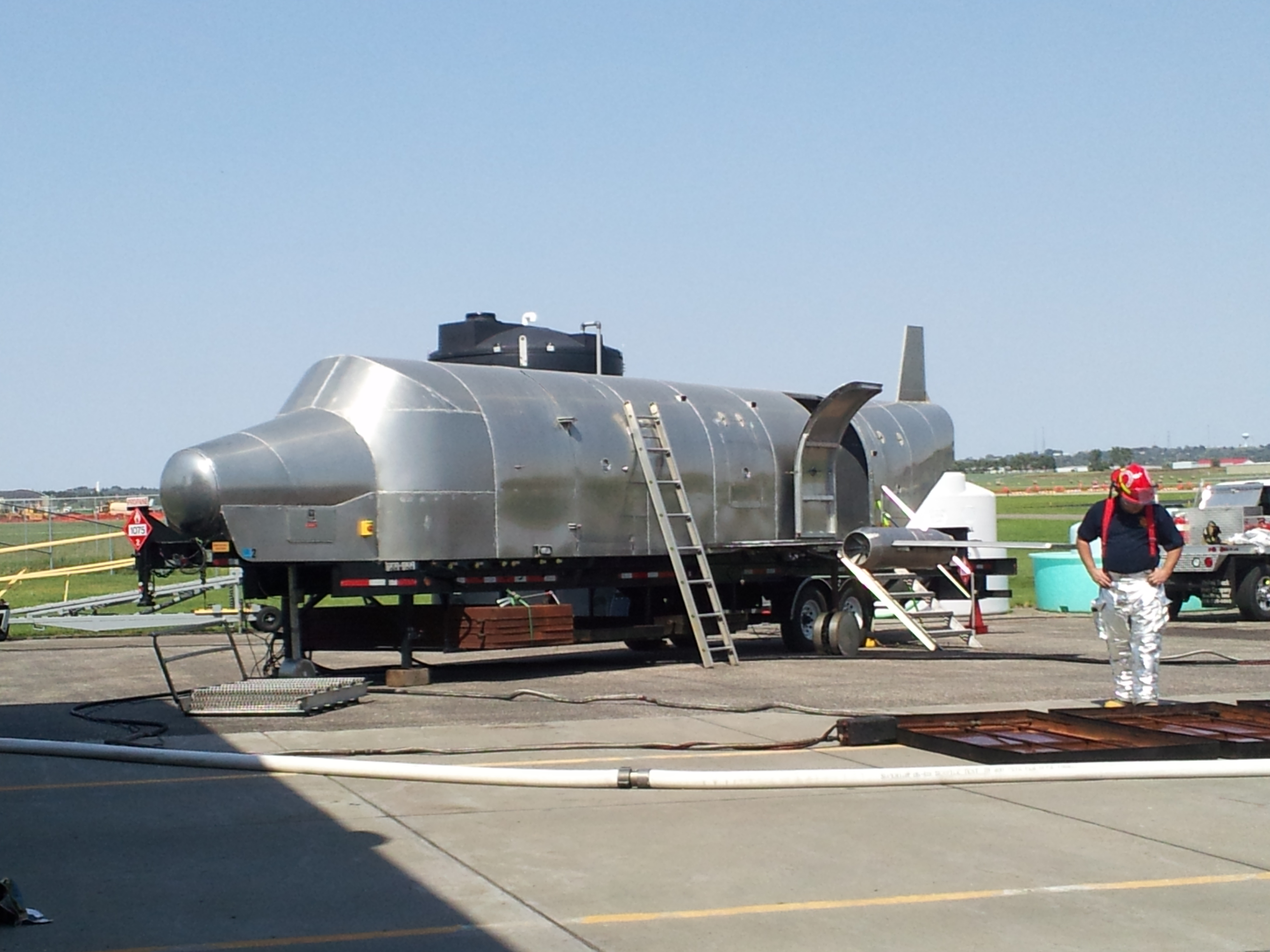 Aircraft Trainer used in Airport Firefighting