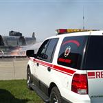 Airport Command Vehicle Observing the Training